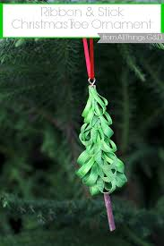 ribbon stick tree ornament all things g d