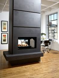 two sided fireplace stone double sided fireplace corner two
