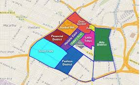 map of downtown los angeles downtown l a education the curve to population demand