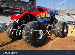birmingham monster truck show barcelona spain november 12 spider man stock photo 101591479