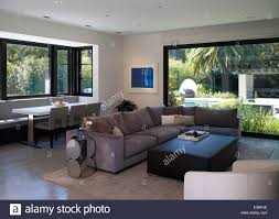 open plan living room and dining area in stone house atherton