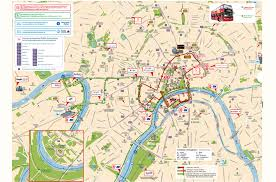 Moscow Russia Map Hop On Hop Off Bus Tour Moscow City Sightseeing