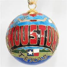houston cloisonne ornament
