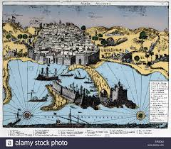 Map Of The Mediterranean Map Of Algiers 1700 Walled City On Coast Of The Mediterranean
