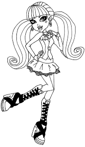 monster high coloring pages draculaura chuckbutt com