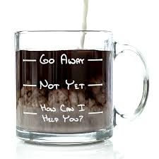 funny coffee mugs and mugs with quotes go away funny glass coffee