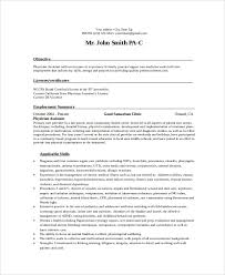 Physician Assistant Student Resume Example Orthopedic Physician Assistant Resume Free Sample Juris