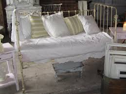 antique iron crib turned daybed includes mattress all 4 sides of