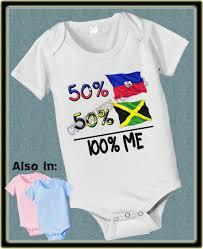 Haitian And Jamaican Flag 50 Jamaican 50 Haiti Baby Infant Flag Haiti Flag Nationality