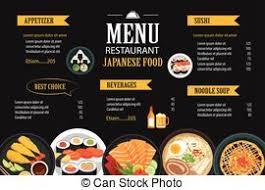 clipart vector of restaurant menu design template brochure