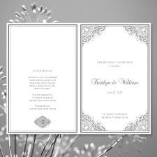 create a wedding program this printable order of service template is available in a number