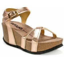 muk luks women u0027s lilith wedge sandals walmart com
