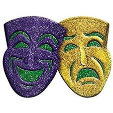 mardi gras wall masks amscan 3d glitter comedy tragedy mardi gras party mask wall