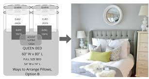 Queen Bed Pillows | ways to arrange bed pillows superior custom linens