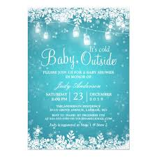 winter baby shower baby its cold outside turquoise winter baby shower card zazzle