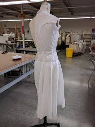 Draping On A Dress Form Draping The Final Project Line Of Selvage