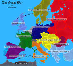 European Map Game by The Great War Map