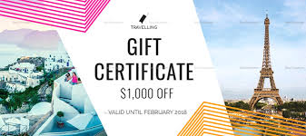 travel gift certificates template travel gift certificate template travel gift