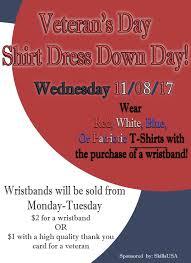 veteran u0027s day shirt dress down day liberty high