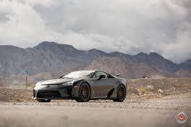 bronze lexus marvelous black lexus lfa sitting on bronze vossen wheels 6