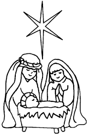 nativity black and white jesus manger clipart black and white
