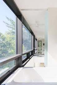 floor granite tile steel frame windows glass hallway building
