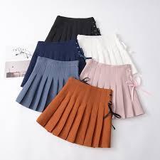 pleated ribbon korean school pleated ribbon skirt sd00334 kawaii