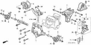1999 honda civic engine at engine mounts honda oem parts 1999 honda civic for 4dr ex