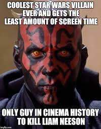 Villain Meme - darth maul deserves another star wars appearance imgflip