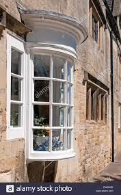 bow window stock photos images alamy elegant bow window house lower high street chipping campden the cotswolds gloucestershire england