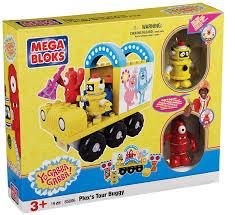 amazon mega bloks yo gabba gabba plex u0027s tour buggy toys u0026 games