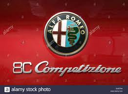 alfa romeo logo alfa romeo 8c competizione badge stock photo royalty free image