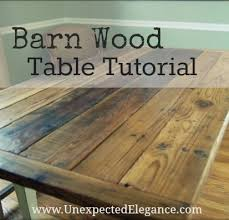Make Your Own Reclaimed Wood Desk by Barn Wood Table Tutorial Wood Table Barn Wood And Barn