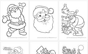 printable santa claus coloring pages christmas