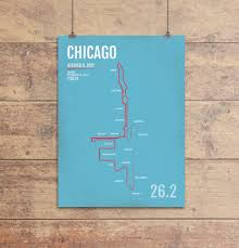 New York City Marathon Map by Chicago Marathon Map Print Gifts And Gear Free Shipping U0026 20