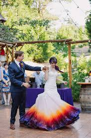 dip dye wedding dress this airbrushed wedding dress is going to take your