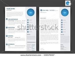 Web Resume Template Resume Template Graphic Web Design Stock Vector 551020303