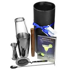 martini shaker set gun metal boston cocktail shaker set