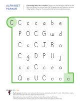 letter c worksheets sparks