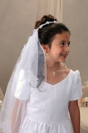 communion headpieces communion veils with ribbon streamers 1st communion veils