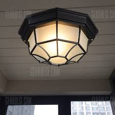 octagon ceiling light fixture jueja e27 led octagonal ceiling light european vintage style balcony
