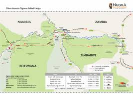 Victoria Falls Map Ngoma Safari Lodges Africa Albida Tourism