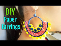 earrings paper diy paper earrings how to make beehive quilled earrings 6 steps