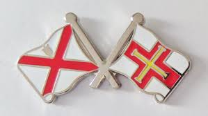 New Jersy Flag Channel Islands Guernsey And Jersey Friendship Flag Pin Badge T4084