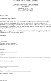 work letter template