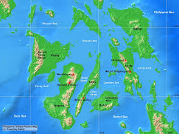 Southeast Asia Physical Map by Philippines Visayas Physical Map A Learning Family