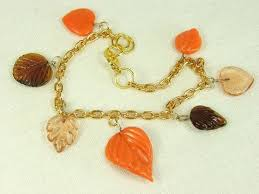 leaf charm bracelet images Nature plants and animals collection my pretty muse JPG