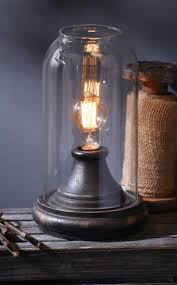 best 25 edison lamp ideas on pinterest natural desk lamps distressed black cloche edison lamp