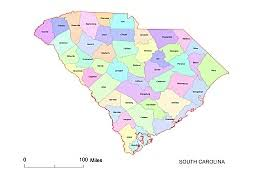 county map of sc preview of south carolina county map colored