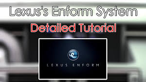 lexus gs pcd lexus u0027s enform system 2015 detailed tutorial tech help youtube